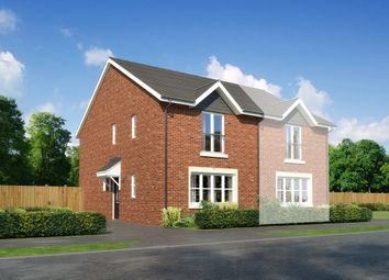 "Thumbnail 3 bedroom semi-detached house for sale in ""Belvoir"" at Church Road, Warton, Preston"