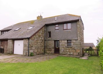 Thumbnail 4 bed semi-detached house to rent in Sennen, Penzance