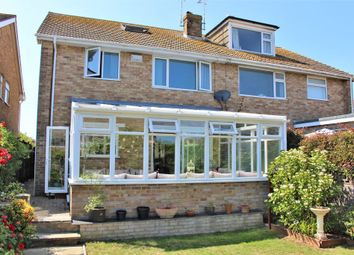 Thumbnail 4 bed semi-detached house for sale in Malines Avenue, Peacehaven