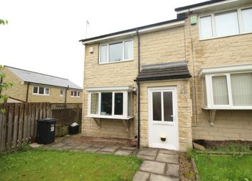 Thumbnail 3 bed end terrace house for sale in Edward Close, Southowram, Halifax, West Yorkshire