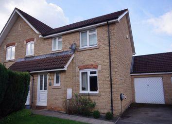Thumbnail 3 bed semi-detached house for sale in Knapp Hill Close, South Horrington Village, Wells