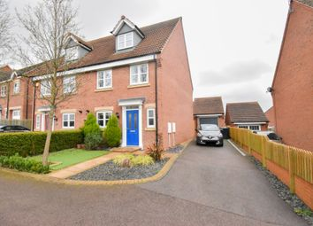 Thumbnail 4 bed semi-detached house for sale in Walter Close, Great Glen, Leicester