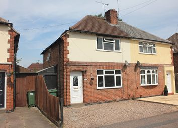 Thumbnail 2 bed semi-detached house for sale in Burleigh Avenue, Wigston, Leicester