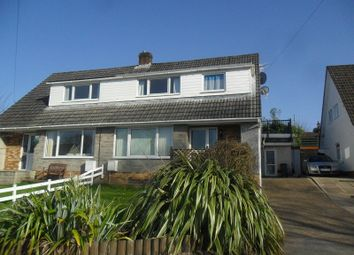 Thumbnail 4 bed semi-detached house for sale in Lon Catwg, Gellinudd, Pontardawe, Swansea.