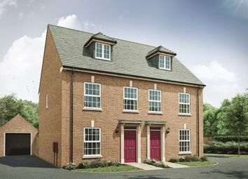 """Thumbnail 3 bed semi-detached house for sale in """"The Thornton S"""" at Attley Way, Irthlingborough, Wellingborough"""