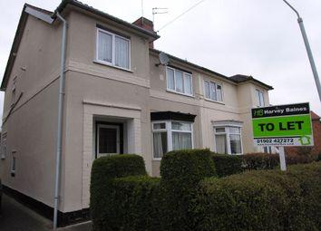 Thumbnail 3 bed semi-detached house to rent in Hordern Grove, Newbridge, Wolverhampton