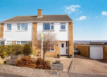 Thumbnail 3 bed semi-detached house for sale in Hawthorne Close, River, Dover, Kent