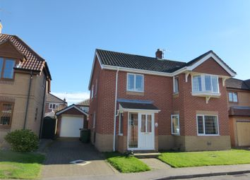 Thumbnail 4 bed detached house for sale in Plumbly Close, North Walsham