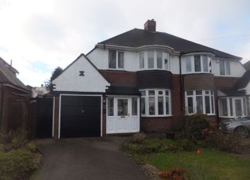 Thumbnail 3 bed semi-detached house for sale in Bakers Lane, Streetly, Sutton Coldfield
