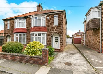 Thumbnail 3 bedroom semi-detached house for sale in Grasmere Avenue, Middlesbrough