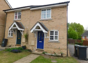Thumbnail 2 bed semi-detached house to rent in Nightingale Close, Stowmarket