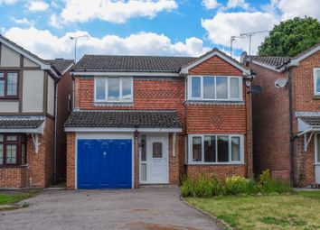 Thumbnail 4 bed detached house for sale in Newby Gardens, Oadby, Leicester