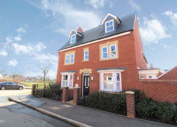 Thumbnail 4 bed town house for sale in Clover Way, Kempston, Bedfordshire