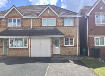 Thumbnail 3 bed semi-detached house for sale in Keyworth Close, Tipton