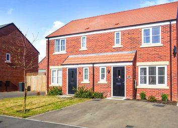 Thumbnail 3 bed semi-detached house for sale in Clovelly Drive, Hampton Gardens Peterborough