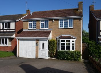 Thumbnail 4 bedroom detached house for sale in Teasel Close, Narborough, Leicester