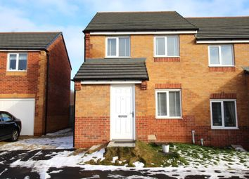 Thumbnail 3 bed semi-detached house to rent in Hedley Close, New Kyo, Stanley