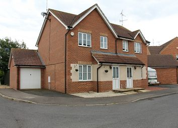 Thumbnail 3 bedroom semi-detached house for sale in Burghley Close, Crowland, Peterborough