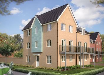 "Thumbnail 3 bed town house for sale in ""The Witney"" at Hill Farm Close, Newmarket Road, Cringleford, Norwich"