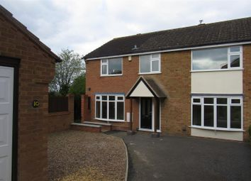 Thumbnail 4 bedroom semi-detached house for sale in Freshwater Close, Wigston
