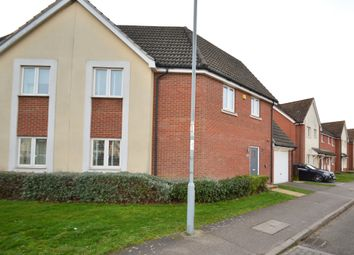 Thumbnail 3 bed semi-detached house for sale in Jovian Way, Ipswich