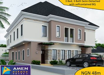 Thumbnail 3 bed semi-detached house for sale in Amen Estate Phase 2, Eleko Beach Road, Ajah, Ibeju Lekki, Lagos
