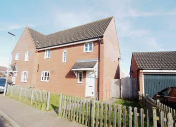 Thumbnail 3 bed semi-detached house for sale in Tortoiseshell Way, Wymondham