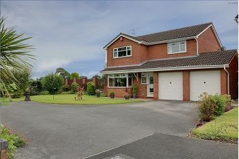 Thumbnail 4 bed detached house for sale in Swallow Drive, Sandbach