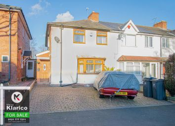 Thumbnail 3 bed end terrace house for sale in York Road, Hall Green, Birmingham