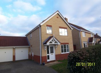 Thumbnail 3 bed link-detached house to rent in Speedwell Road, Wymondham