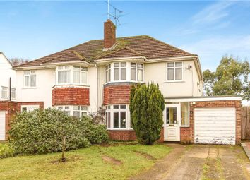 Thumbnail 4 bed semi-detached house for sale in Haddon Drive, Woodley, Reading