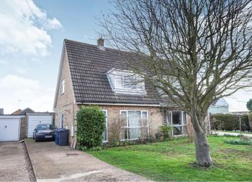Thumbnail 3 bed semi-detached house for sale in Newton Road, Sawtry