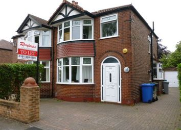 Thumbnail 3 bed semi-detached house to rent in Craddock Road, Sale, 3Ll.