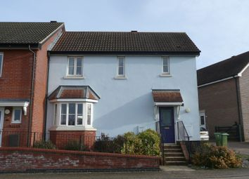 Thumbnail 3 bed end terrace house for sale in Oakfield Road, Long Stratton