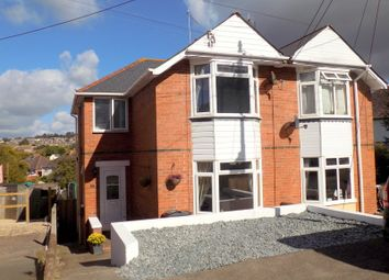 Thumbnail 3 bed semi-detached house for sale in Denmark Road, Exmouth, Devon
