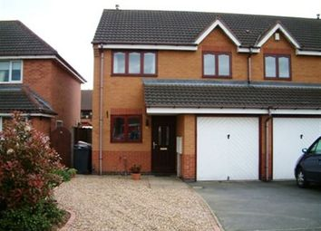 Thumbnail 3 bed property to rent in Knapton Close, Hinckley