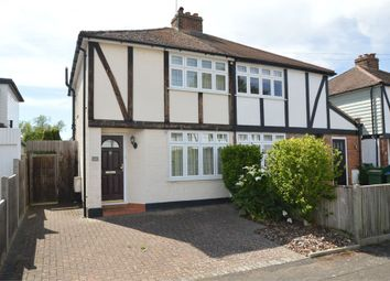 Thumbnail 2 bed semi-detached house for sale in Burwood Close, Hersham Village, Surrey