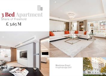 Thumbnail 3 bed flat for sale in Princes Gate Court, London