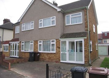 Thumbnail 3 bed semi-detached house to rent in Alexandra Road, Chadwell Heath, Romford