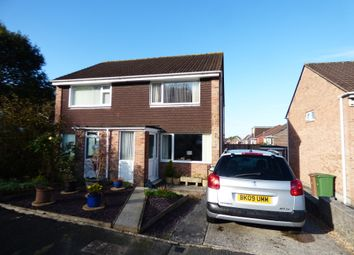 Thumbnail 2 bed semi-detached house for sale in Slatelands Close, Plympton, Plymouth