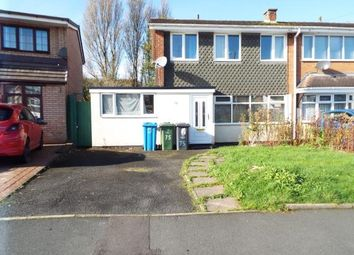 Thumbnail 3 bed semi-detached house for sale in Lingfield Drive, Walsall, West Midlands