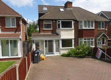 Thumbnail 5 bedroom semi-detached house to rent in Fowlmere Road, Great Barr, Birmingham
