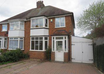 Thumbnail 3 bed semi-detached house for sale in Chanston Avenue, Kings Heath, Birmingham