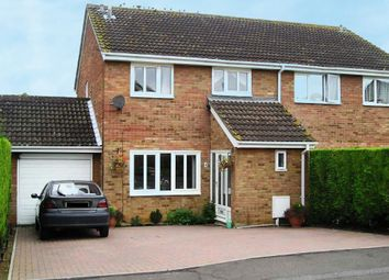 Thumbnail 4 bed semi-detached house for sale in Wyboston Court, Eaton Socon, St. Neots