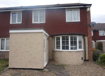 Thumbnail 3 bed end terrace house to rent in Russett Way, Swanley, Kent
