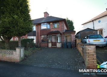 Thumbnail 3 bed semi-detached house to rent in Tennal Road, Harborne
