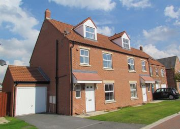 Thumbnail 3 bed town house to rent in Moorland Way, Sherburn In Elmet, Leeds