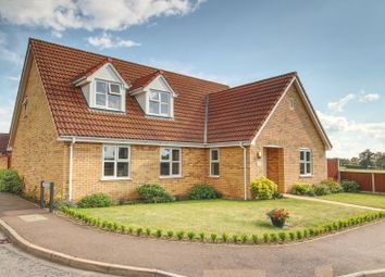 Thumbnail 4 bed detached house for sale in Slough Lane, Attleborough