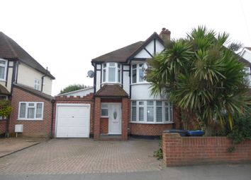 Thumbnail 4 bed semi-detached house to rent in Clayton Road, Chessington