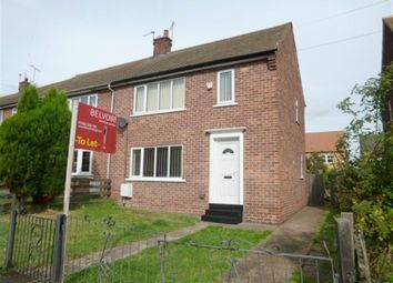 Thumbnail 2 bed semi-detached house to rent in 59 Rutland Crescent, Harworth
